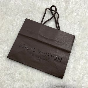 Louis Vuitton Brown Paper Shopping Gift Bag